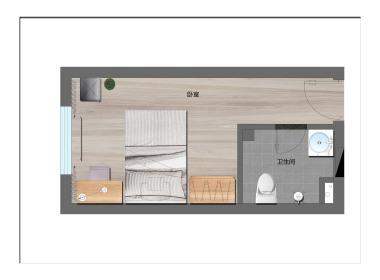 冠寓(人民公园店) 1室0厅1卫
