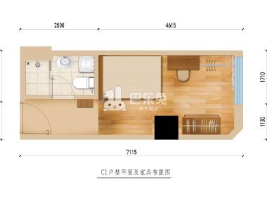 冠寓(中山公园店) 1室1厅1卫