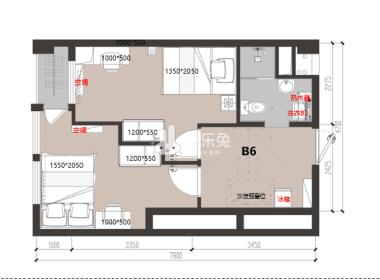 冠寓(南湖店) 1室1厅1卫