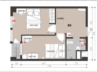 冠寓(南湖店) 1室0厅1卫