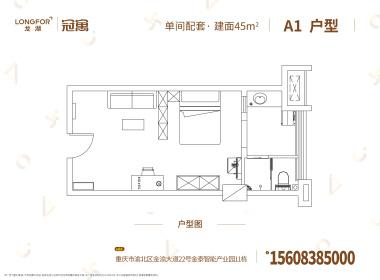 龙湖冠寓重庆礼嘉店 1室0厅1卫