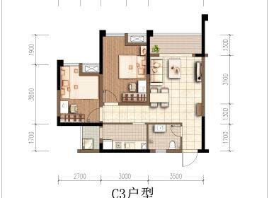 龙湖冠寓重庆两江龙兴店 1室0厅1卫